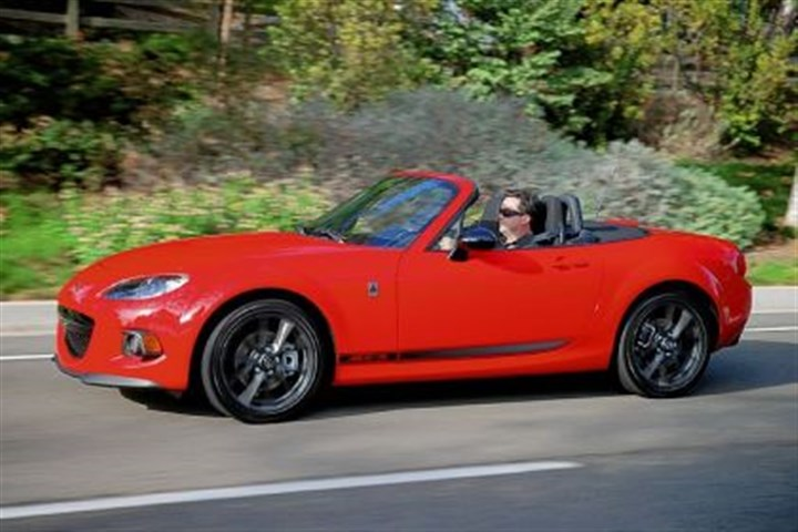 2013 Mazda MX-5 Miata The 2013 Mazda MX-5 Miata has received a few styling changes since its 1990 debut but remains true to its two-seater sports car heritage.