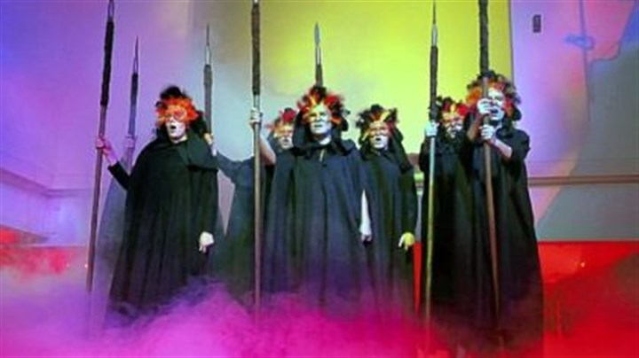 5. Maecenas Unmasked XXVI to benefit Pittsburgh Opera The Valkyries appear ina cloud of smoke.