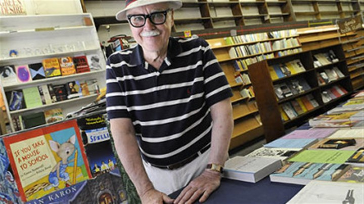 53 years of business Jay Dantry, owner of Jay's Bookstore in Oakland, which closed after 53 years of business.