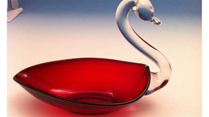 A ruby swan candy dish A ruby swan candy dish made by Duncan & Miller Glass Co. The company's museum in Washington, Pa., will hold a show, sale and auction of rare pieces at the Washington County Fairgrounds on Saturday and Sunday.