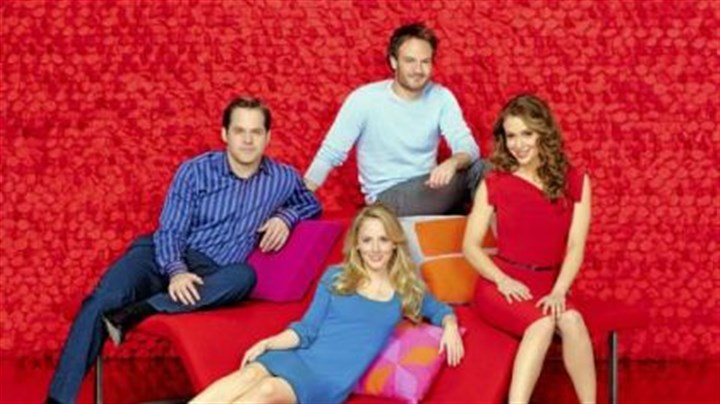 "ABC's ""Romantically Challenged"" ABC's ""Romantically Challenged"" stars, clockwise from left, Kyle Bornheimer as Perry Gill, Josh Lawson as Shawn Goldwater, Alyssa Milano as Rebecca Thomas and Kelly Stables as Lisa Thomas."