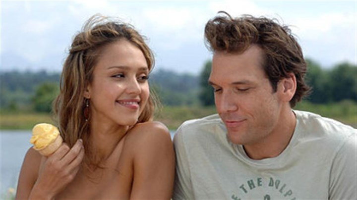 "Alba and Cook in ""Good Luck Chuck"" Jessica Alba is the woman of Dane Cook's dreams in ""Good Luck Chuck."""