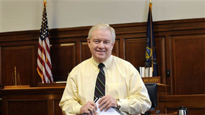 Allegheny County Common Pleas Judge Michael E. McCarthy Allegheny County Common Pleas Judge Michael E. McCarthy has proposed creating a veterans court.