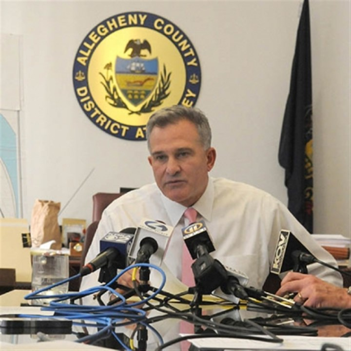 allegheny county da zappala Allegheny County District Attorney Stephen A. Zappala Jr. talks to reporters about his review of the death of Ka'Sandra Wade.