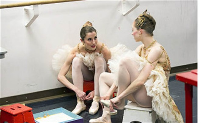 "Allison DeBona, left Chartiers Valley High School grad Allison DeBona, left, is featured on the reality series ""Breaking Pointe."""