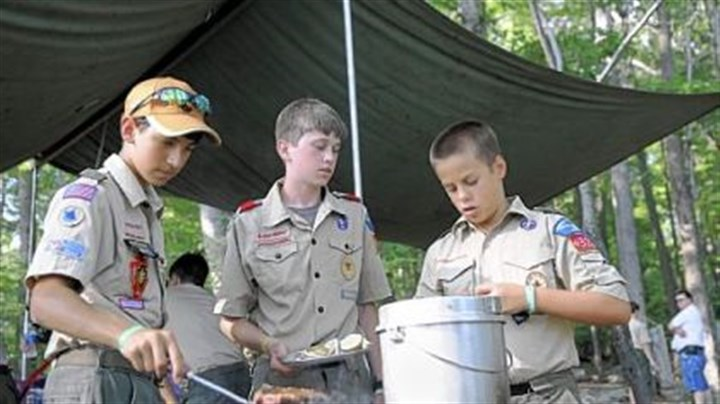 Almost dinner time Preparing dinner are, from left, Nick Sisco, 14, Jeremy Hinnebusch, 13, and Eric Stabb, 12, of the Fox Patrol of Troop 329 in McCandless.