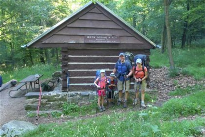 Alt family on Appalachian Trail Madison, left, William, Jeff and Beth, on their first family overnight backpacking trip along the Appalachian Trail in Shenandoah National Park.