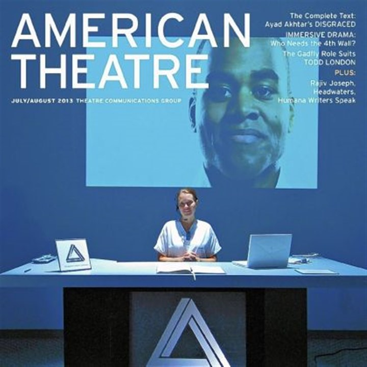 "American Theatre magazine The July/August cover of American Theatre magazine features ""STRATA,"" an August 2012 project of the Pittsburgh theater company Bricolage and the Pittsburgh Cultural Trust."
