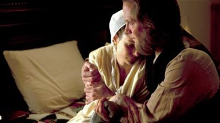 """Amish Grace"" Kimberly Williams-Paisley and Matt Letscher portray parents grappling with a shooting in ""Amish Grace."""