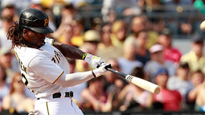 Andrew McCutchen Andrew McCutchen zeroes in on his 13th home run of the season in the fourth inning Saturday at PNC Park == all the runs Brad Lincoln and the bullpen would need.