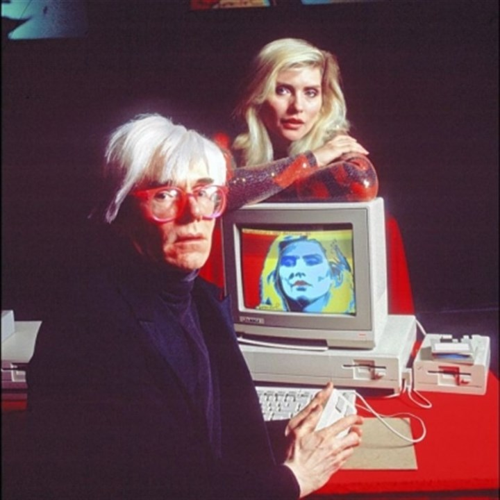 Andy Warhol and Debbie Harry Andy Warhol and Debbie Harry introducing the Amiga 1000.