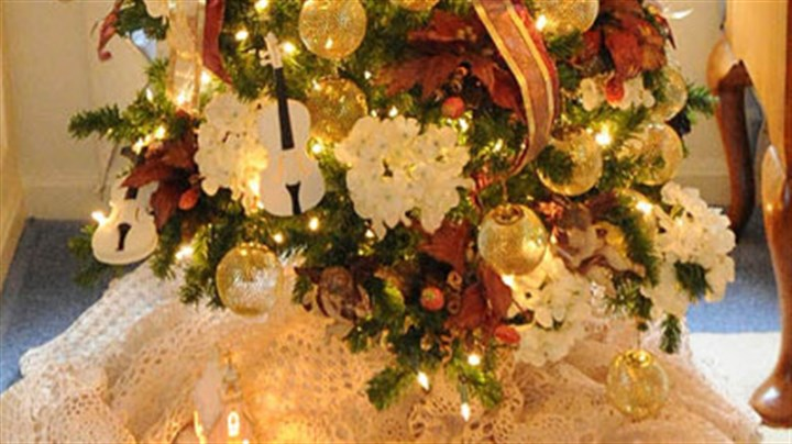Angel tree Angels, violins and gold tree by Celine Wilson.