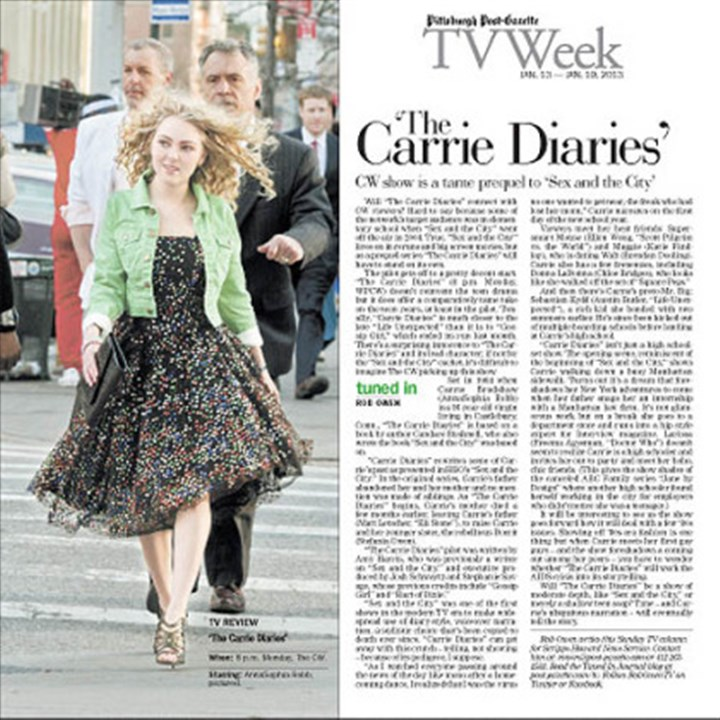 "AnnaSophia Robb AnnaSophia Robb as Carrie Bradshaw in ""The Carrie Diaries."""