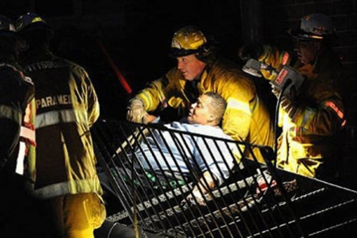 Annette Wade Pittsburgh rescue workers free Annette Wade, 52, from a collapsed stairway Thursday at the Allegheny Commons East complex on the North Side.