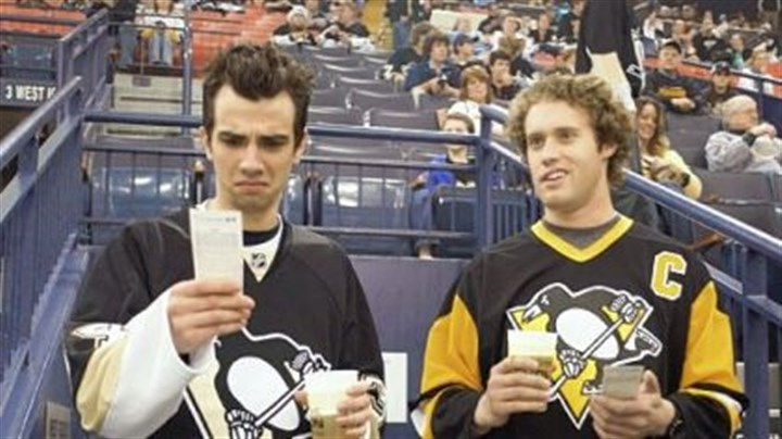"Another Pittsburgh film ""She's Out of My League"" starring Jay Baruchel, left, and T.J. Miller, was filmed in part in Mellon Arena."