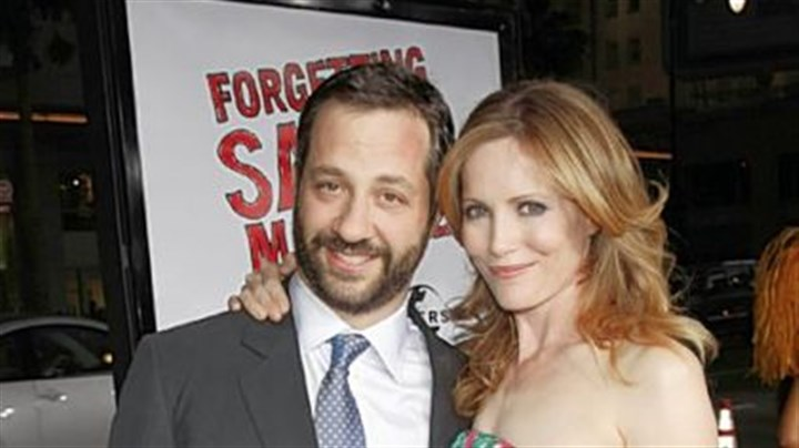 "Answer to Question One The answer to the first question -- who is Judd Apatow married to -- is actress Leslie Mann. The couple is shown arriving for last week's premiere of ""Forgetting Sarah Marshall"" at the Chinese Theater in Los Angeles."
