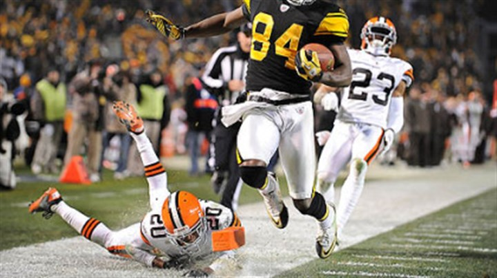Antonio Brown Antonio Brown score late in the fourth quarter against the Browns earlier this month.