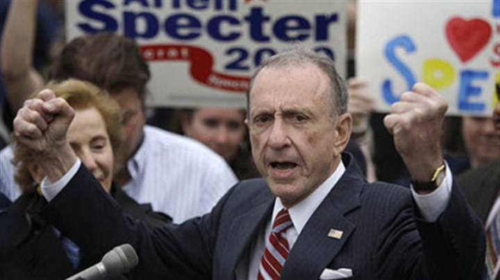 arlen specter 2010 campaign photo In this May 17, 2010 file photo, Sen. Arlen Specter, D-Pa., speaks at the Citizens Bank Park, in Philadelphia, as he campaigned across Pennsylvania for the Democratic nomination to run for re-election.