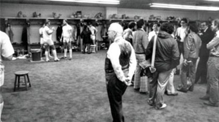Art Rooney Art Rooney, his team and the locker room.