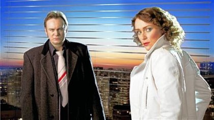 """Ashes to Ashes"" Philip Glenister and Keeley Hawes star in ""Ashes to Ashes."""
