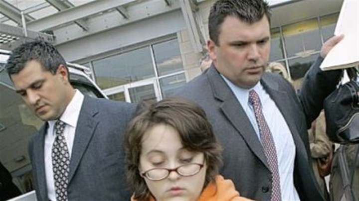 Ashley Todd Ashley Todd is led from Pittsburgh police headquarters by detectives yesterday.