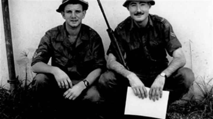 Aussies 1 Peter Ward and Reg Henry in Saigon, 1970.