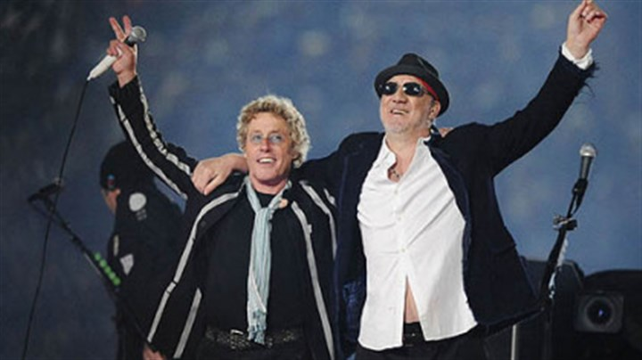 Back on the road In this 2010 file photo, Roger Daltrey, left, and Pete Townshend acknowledge the crowd after performing during the second half of the NFL Super Bowl XLIV football game in Miami.