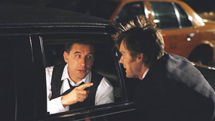 "Baldwin and Krause in ""Dirty Sexy Money"" William Baldwin, left, plays New York Attorney General Patrick Darling and Peter Krause plays attorney Nick George in the ABC series ""Dirty Sexy Money."""