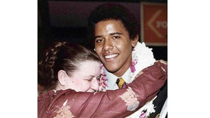 Barack Obama gets a hug from his grandmother, Madelyn Lee Payne Dunham Barack Obama gets a hug from his grandmother, Madelyn Lee Payne Dunham, in 1979 at his high school graduation in Hawaii. She died Nov. 2, 2008, two days before her grandson was elected president.