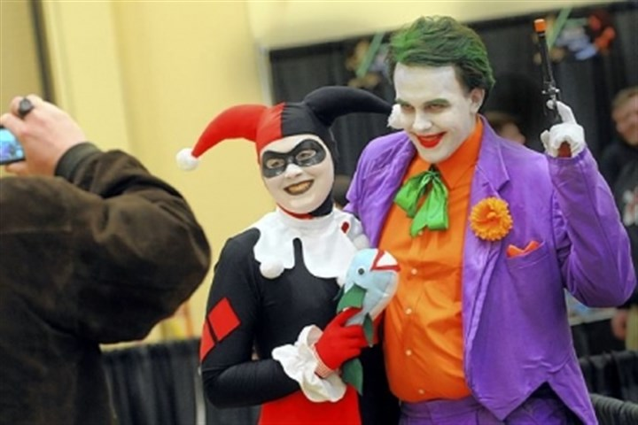 Batman's Harley and Joker characters Batman's Harley and Joker characters at Steel City Con.