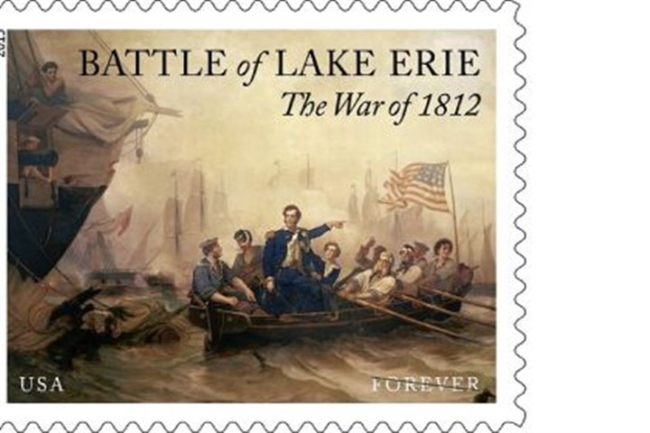 Battle of Lake Erie stamp The Battle of Lake Erie stamp.