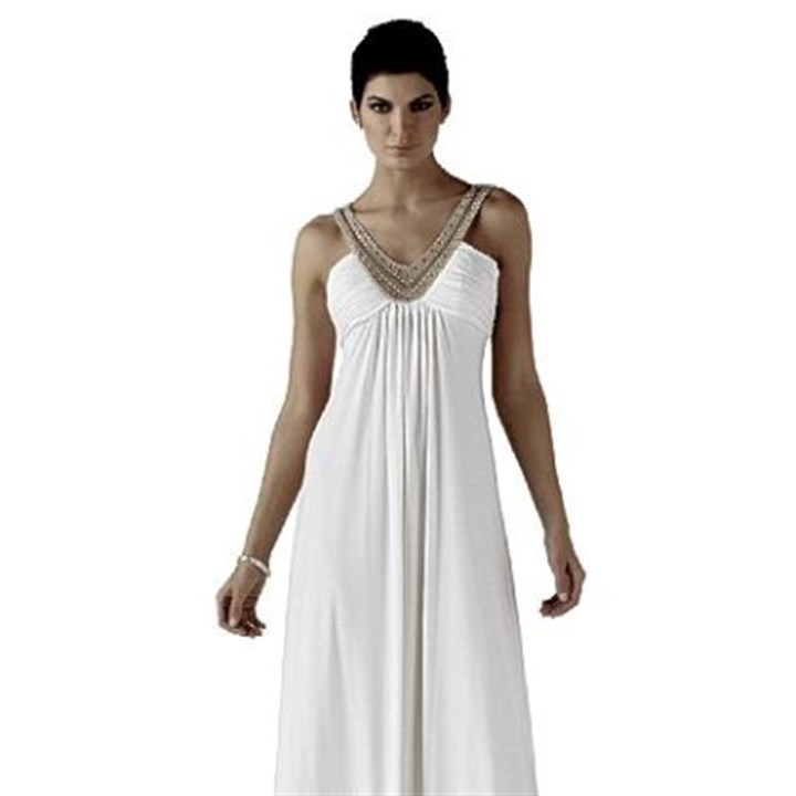 Beaded ecru jersey gown White House Black Line Market's Beaded ecru jersey gown, $280.