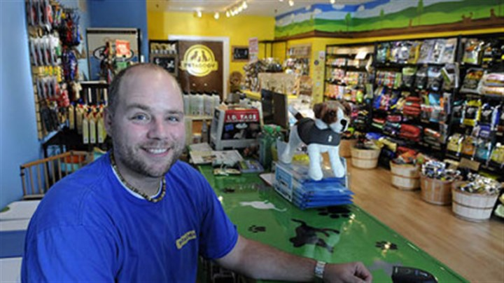 Ben Huber of Petagogy Ben Huber, one of the co-owners of a new pet food store, Petagogy, on Ellsworth Avenue in Shadyside.