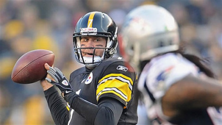 Ben Roethlisberger Pittsburgh Steelers quarterback Ben Roethlisberger drops back to pass against the Patriots.