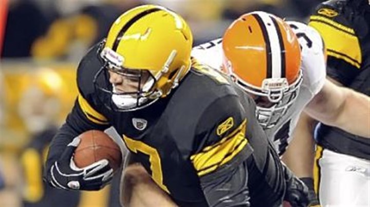 Ben Roethlisberger Ben Roethlisberger is sacked by the Browns' Scott Paxson in the second quarter Thursday night. Roethlisberger left the field with an injury on the play.