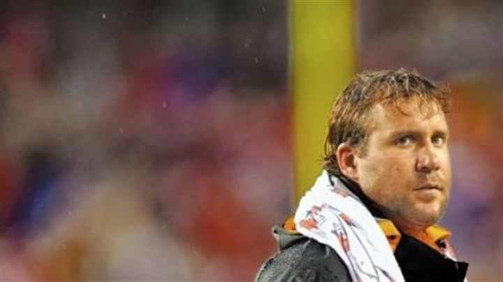 Ben Roethlisberger Ben Roethlisberger could do nothing but stand in the rain on the FedEx Field sideline last night.