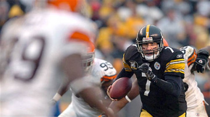 Ben Roethlisberger Quarterback Ben Roethlisberger scrambles up the middle for 30 yards and a touchdown in the fourth quarter. (vs. Browns 11/11/07)