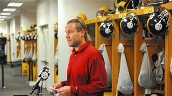 Ben Roethlisberger Ben Roethlisberger reads a statement to the media at the Steelers' South Side facility regarding the events of the day.