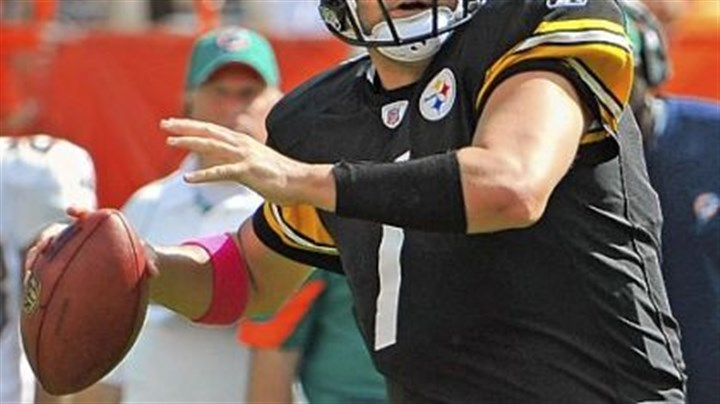 Ben Roethlisberger Steelers quarterback Ben Roethlisberger threw for 302 yards and two touchdowns against the Dolphins Sunday.