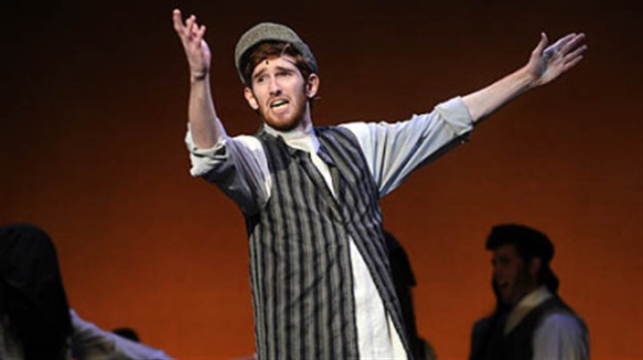 "Best actor Luke Halferty from Central Catholic was named Best Actor as Tevye in ""Fiddler on the Roof."""