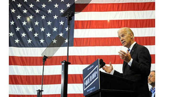 biden in ohio Vice President Joe Biden attacks Mitt Romney's economic policies and his management past during a campaign appearance at M7 Technologies in Youngstown, Ohio.