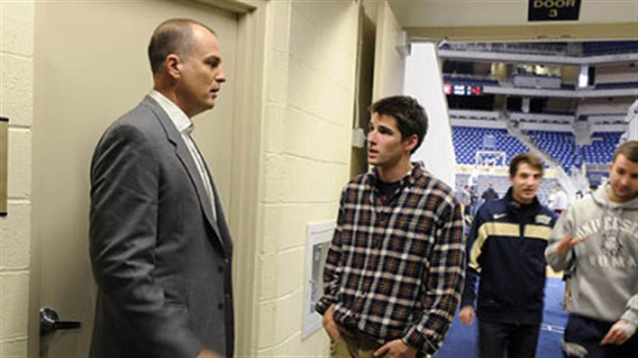 BilasReporter Bilas gives some career advice to Pete Blais, a radio reporter and University of Pittsburgh junior.
