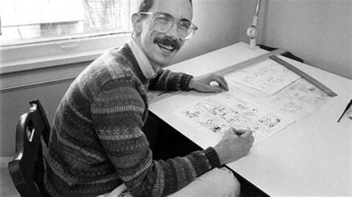 "Bill Watterson Bill Watterson works on his cartoon strip ""Calvin and Hobbes"" in 1986. The artist completely vanished from the public eye when he ended the popular strip in 1995. Nevin Martell will discuss his book about Mr. Watterson at the ToonSeum on Saturday."