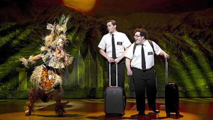 "Book of Mormon From left, Rema Webb, Andrew Rannells and Josh Gad perform in ""The Book of Mormon,"" a critical and box-office darling that leads all Tony nominees with 14."