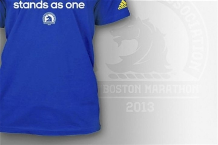 """Boston stands as one"" T-shirt ""Boston stands as one"" limited-edition T-shirt by adidas, $26.20 at www.adidas.com or www.baa.org."