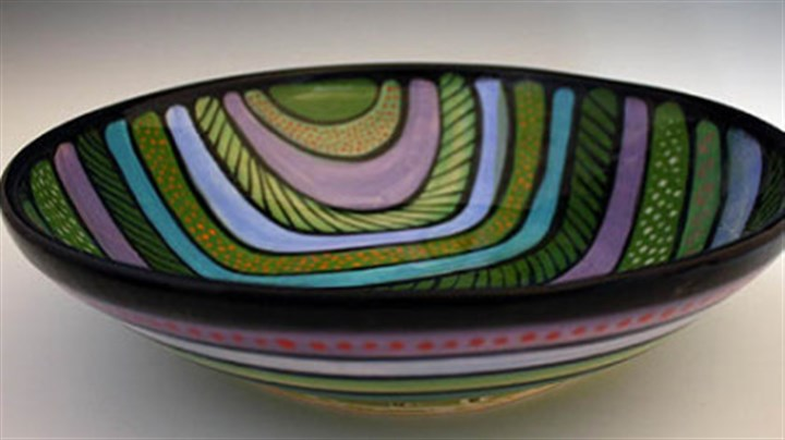 Bowl by Jan McAllister An example of ceramic work by artist Jan McAllister.