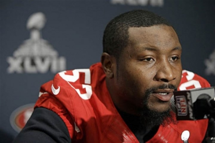 Bowman 1 San Francisco 49ers inside linebacker NaVorro Bowman talks with reporters on Thursday in New Orleans.