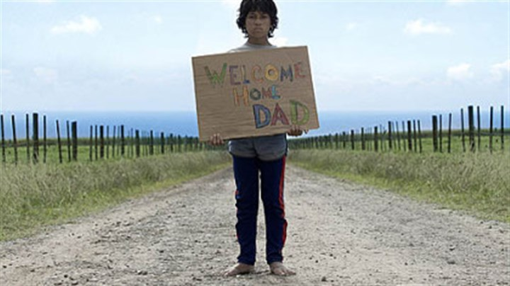 "boy Boy (James Rolleston) waits for his Dad in the New Zealand movie ""Boy."""