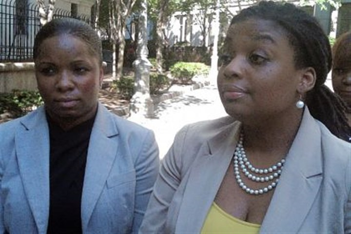 Brandi Johnson and Marjorie M. Sharpe Brandi Johnson, left, and her lawyer, Marjorie M. Sharpe, leave federal court in New York on Tuesday after a civil jury awarded $30,000 in punitive damages in addition to the $250,000 in compensatory damages that had been awarded last week.