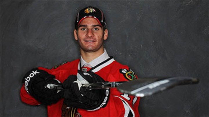 Brandon Saad The Blackhawks picked forward Brandon Saad, a native of Gibsonia, in the second round.